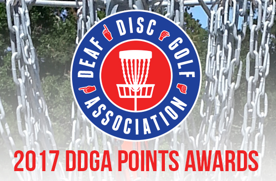 DDGA Points – 2017 Final Standings